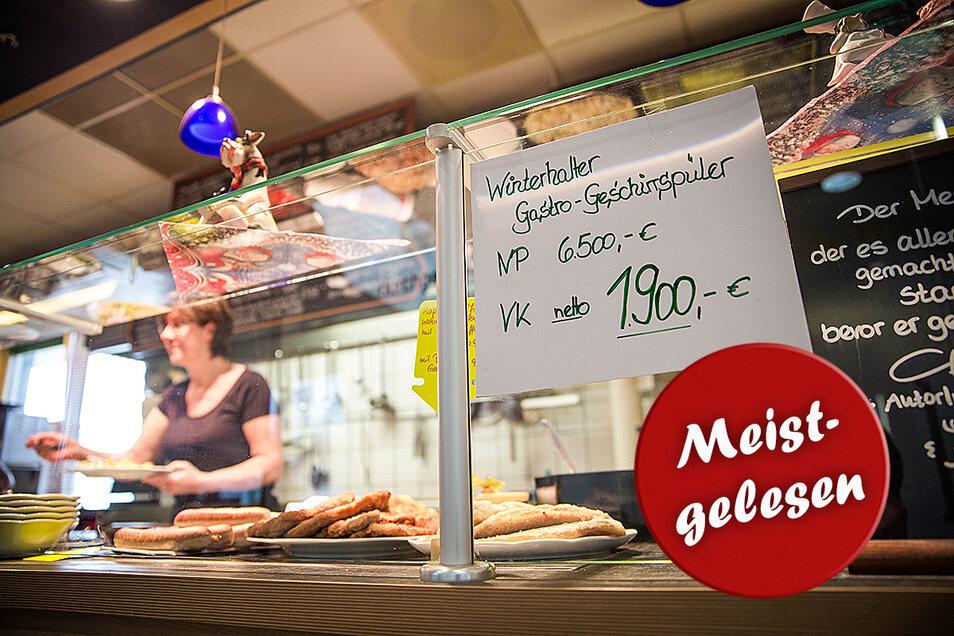 Das Center-Bistro im Einkaufszentrum Radeberg verkauft das Inventar. Foto: Sven Ellger