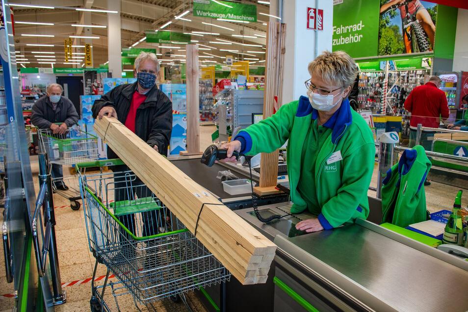 Die ersten Lockerungen führen am Montag auch die Meißner Landkreisbewohner vor allem in die Baumärkte.