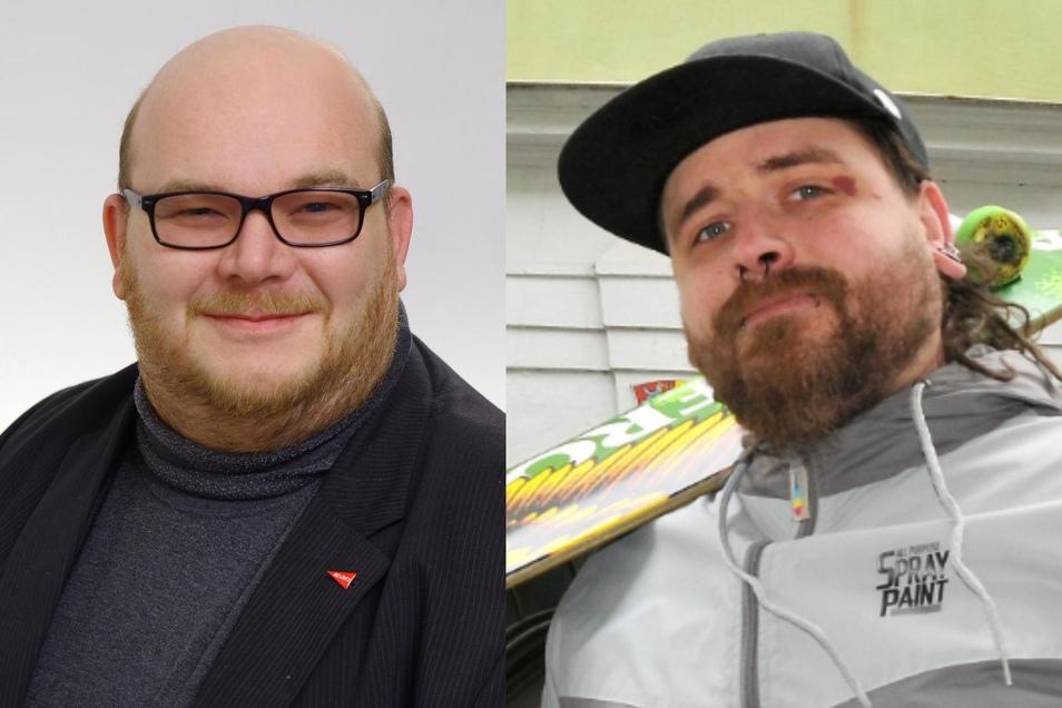 Mirko Schultze (links) tritt im Wahlkreis Görlitz an, Tuomo Neumann erstmals im Wahlkreis Zittau.