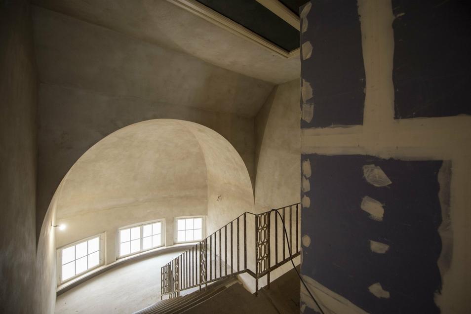 Im Treppenhaus ist eine Galerie mit den berühmten Personen des Labors geplant.