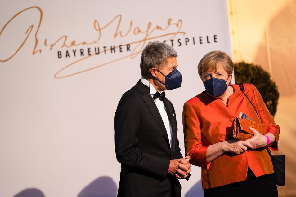 Frau Merkel und Herr Sauer jüngst beim Start der diesjährigen Festspiele