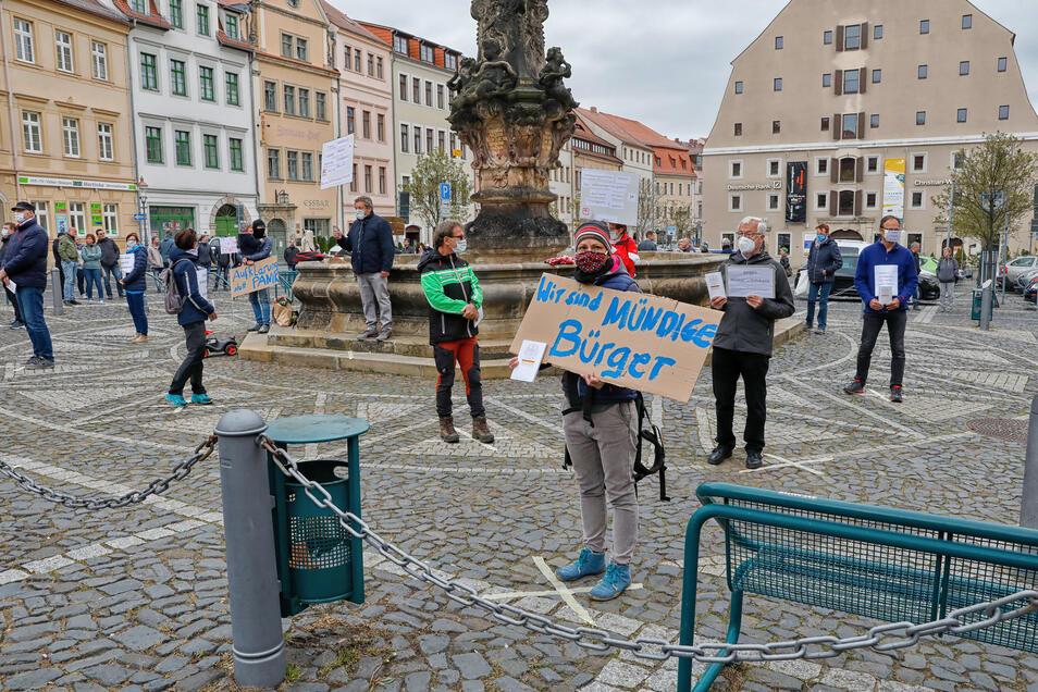 Ein 30-minütiger stiller Protest.