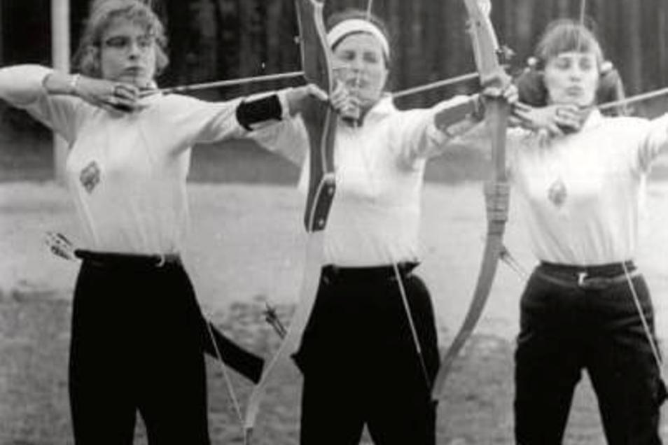 Nicht nur Fußball gab es: 1972 wurde die DDR-Bestenermittlung im Bogenschießen ausgetragen.