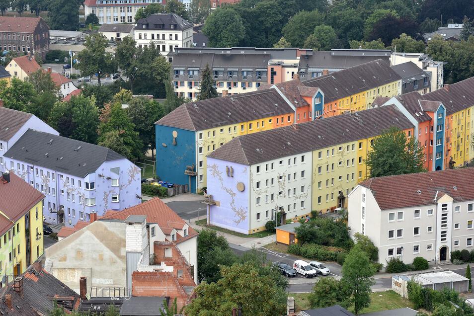 Das Künstlerviertel - obwohl nicht aus historischen Gebäuden bestehend - ist kein Problemfall: Der Leerstand ist niedrig, es gibt viel Grün.
