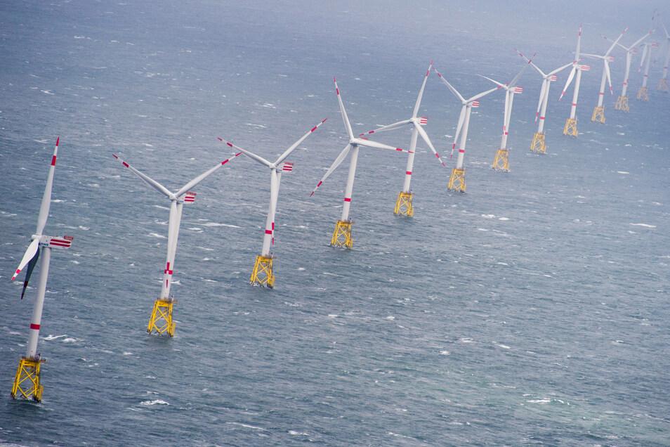 In Offshore-Windparks können zwar große Leistungen erzeugt werden, aber der Strom muss aufwendig transportiert werden.