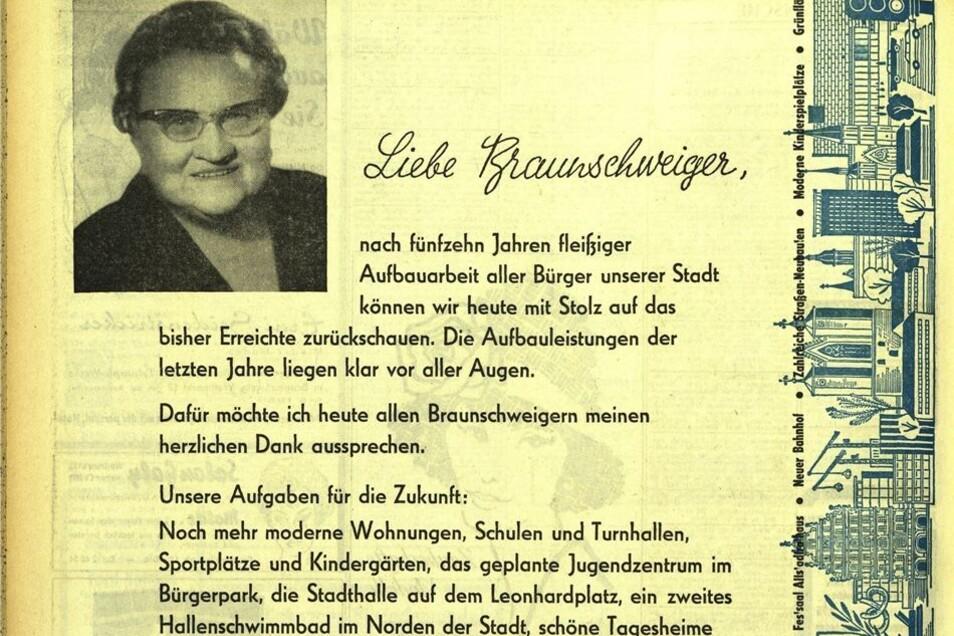 Ein Wahlaufruf für die SPD in der Braunschweiger Zeitung 1961.