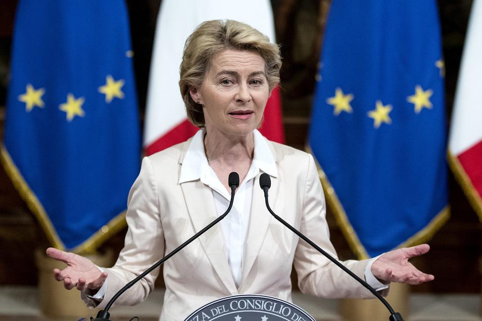 EU-Kommissionschefin Ursula von der Leyen hatte eine gleichmäßig aus Männern und Frauen besetzte Kommission versprochen.