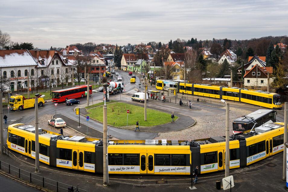 Die Gleisschleife Ullersdorfer Platz in Dresden-Bühlau bleibt noch mindestens fünf Jahre an ihrem Platz.