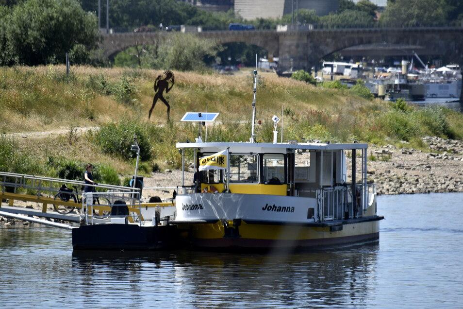 """Die """"Johanna"""" kann wieder über die Elbe."""