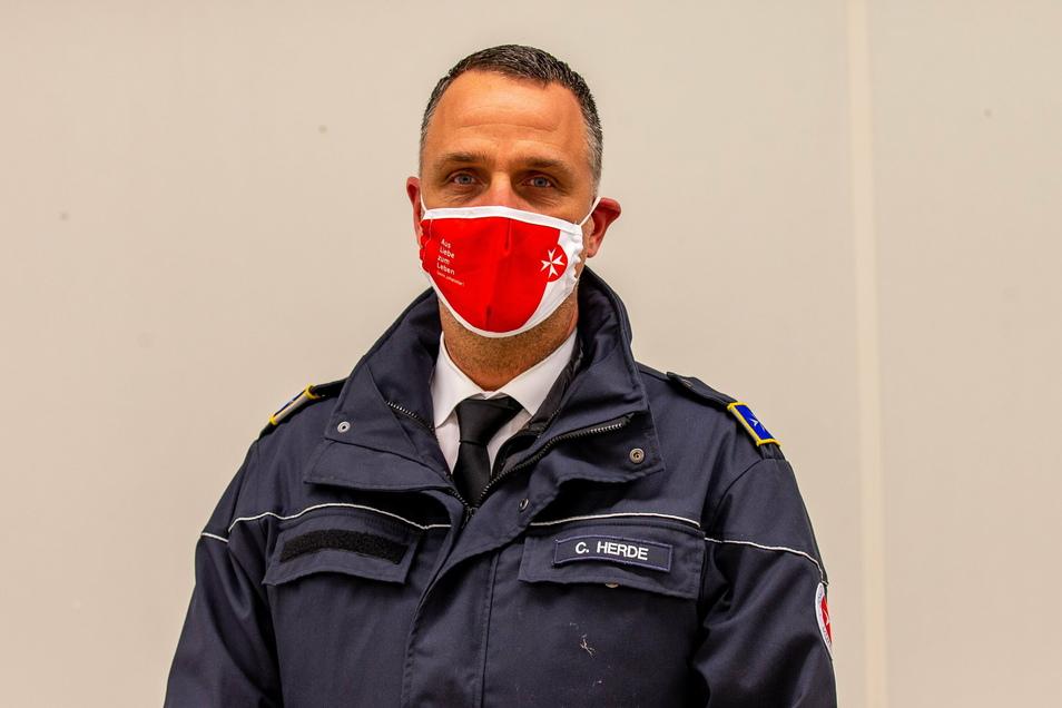 Carsten Herde von den Johannitern ist für die mobilen Impfteams im Landkreis zuständig.