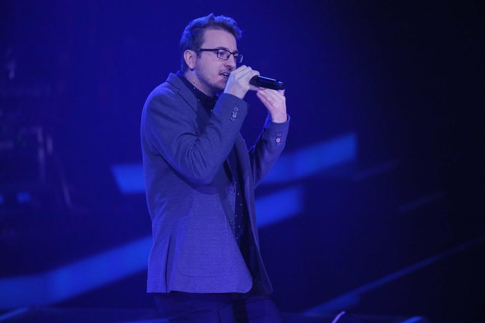 """Manuel Süß aus Kaufbach überzeugte in der dritten Runde von The Voice mit dem Maroon-5-Hits """"Animals"""". Er schaffte es auf den Hot Seat."""