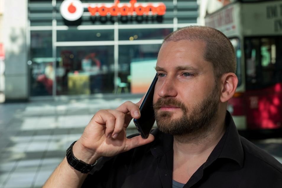 Hat Streit mit Vodafone und Lidl Connect: Pascal Feiler aus Dresden.