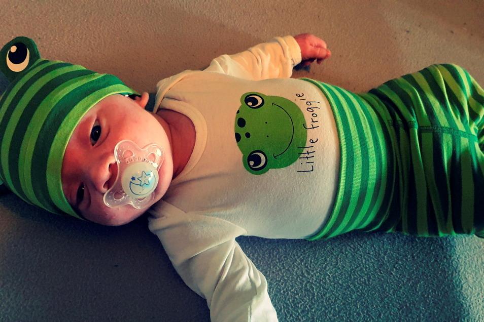 Luis, geboren am 17. Februar, Geburtsort: Dresden, Gewicht: 3.510 Gramm, Größe: 51 Zentimeter, Eltern: Julia Haßpacher und Patrick Diessner, Wohnort: Dresden-Gorbitz