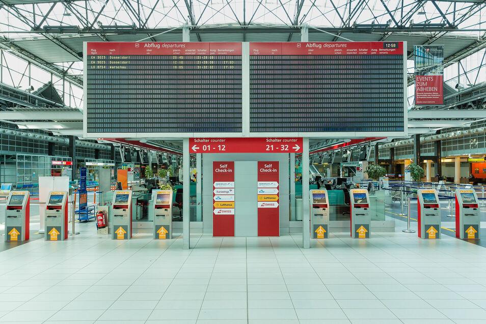 Ins Dresdner Flughafen-Terminal soll im Juni wieder Leben einkehren.