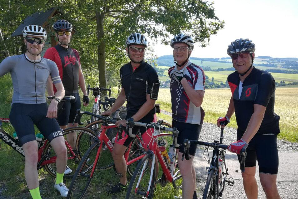 Der aktive Kern der Radsportgruppe