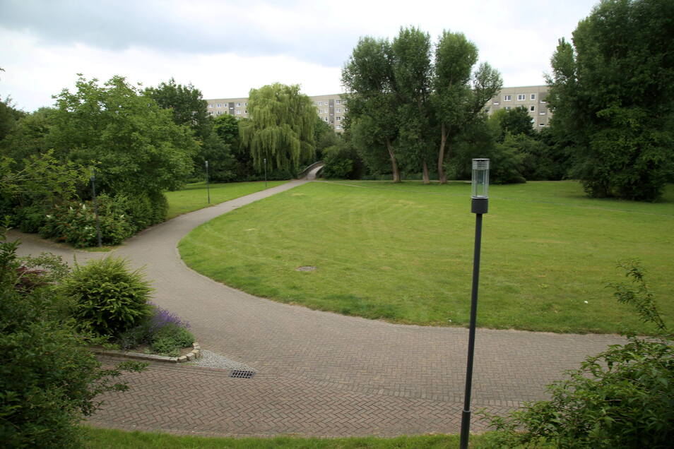 Kleiner Park am Rande Königshufens: Das Kidrontal ist die grüne Verbindung zwischen Innenstadt und Königshufen.