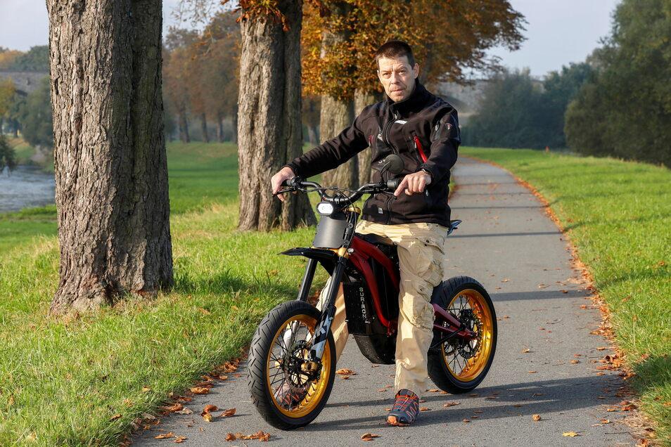 Jens Neumann-Weinbeer will mit E-Motorrädern den Tourismus beleben.