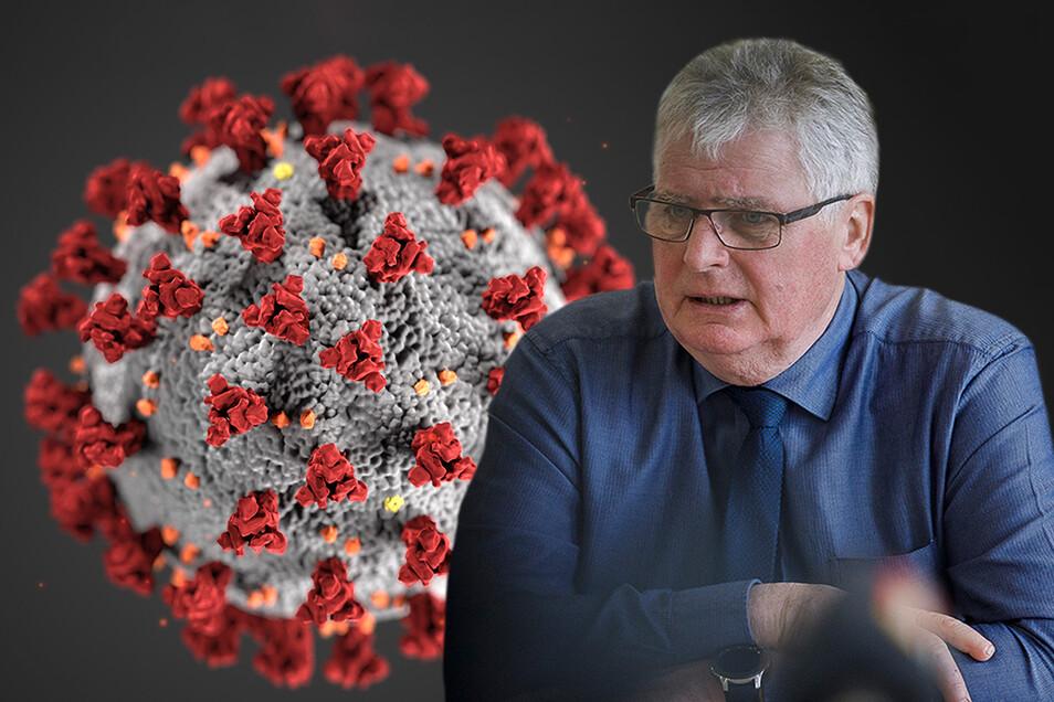 ARCHIV - 06.03.2020, USA, Washington: HANDOUT - Diese von den Centers for Disease Control and Prevention (CDC) im Januar 2020 zur Verfügung gestellte Illustration zeigt das neuartige Coronavirus. Rote knubbelig-abstehende Stacheln auf einer grauen Kugel: