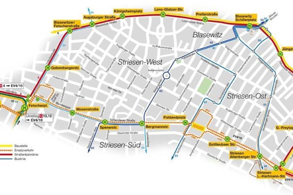 Dieser Plan gilt von Freitag, 11. April, 4:15 Uhr bis Montag, 14. April , 3:30 Uhr. Grafik als pdf