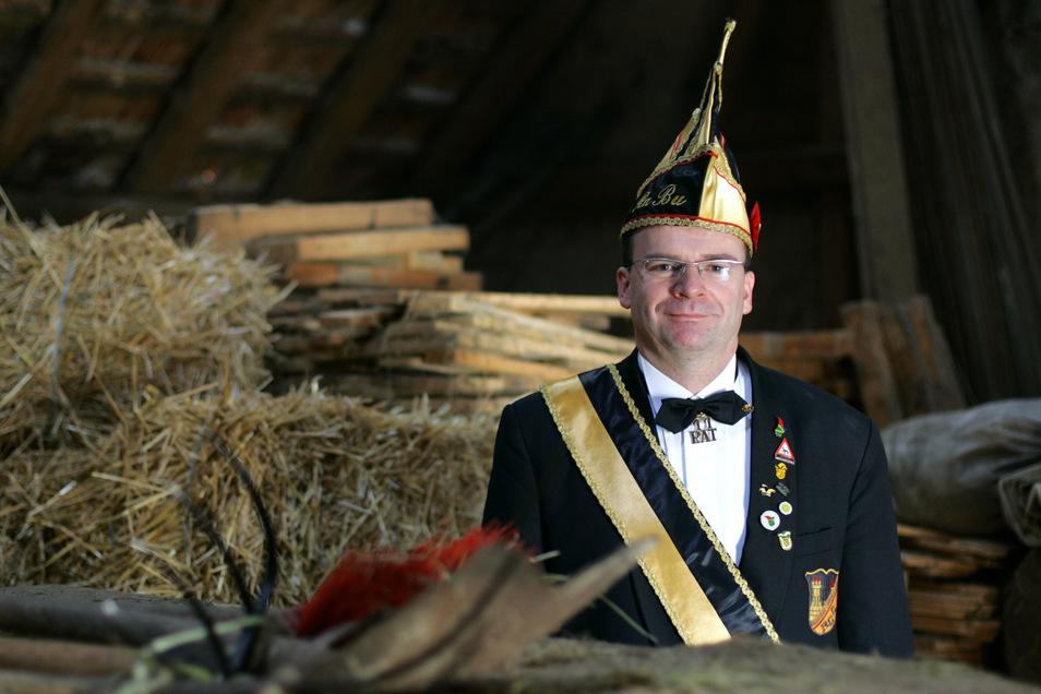 Olaf Häßlich, der Präsident des Radeburger Carnevals Clubs, bekommt den Rathausschlüssel in diesem Jahr nicht.