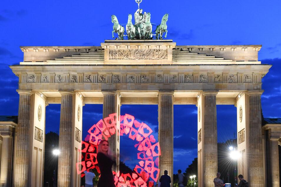 Oder auch das Brandenburger Tor.