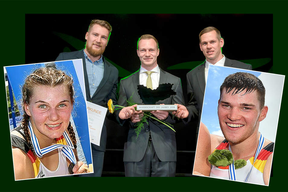 Die Gewinner der Sportlerumfrage sind: die Rudererin Johanna Sinkewitz, der Ruderer Franz Werner und das Bobteam Francesco Friedrich.