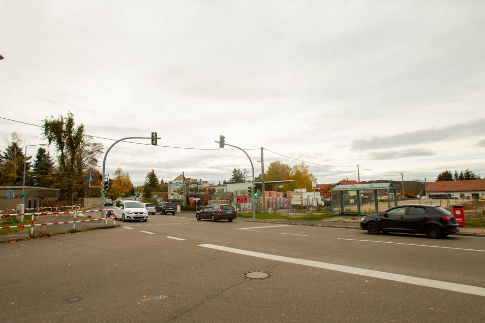 Wird diese Kreuzung auf der B170 in Hänichen geändert?