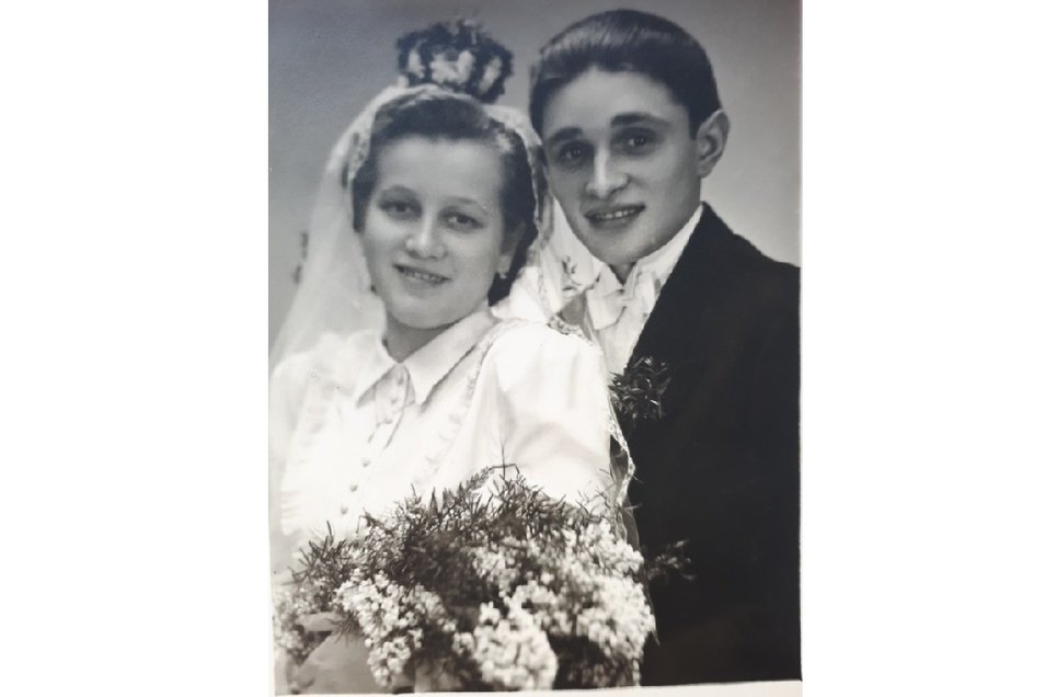 70 Jahre sind seit diesem Foto vergangen: Margit und Rudi Flammiger bei ihrer Hochzeit 1950.