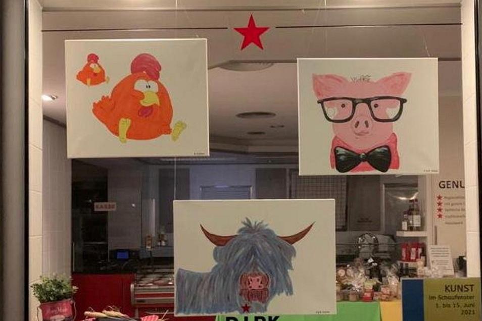 In der Genussquelle zeigte Familie Klotsche lustige selbst gemalte Tierbilder.