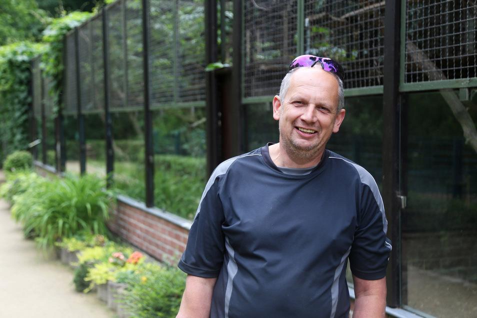 Michael Tobis leitet derzeit interimsweise die Geschäfte im Riesaer Tierpark.