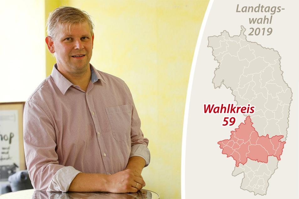 Sylvio Pfeiffer-Prauß tritt für die Grünen im Wahlkreis 59 an.