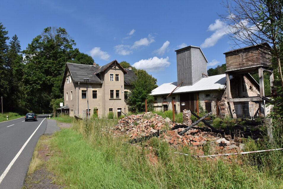 Die Hammermühle im Müglitztal bei Bärenstein verfällt seit Jahren. Hier plant Hendrik Schwarz eine Verladestation für Erz und Steine.
