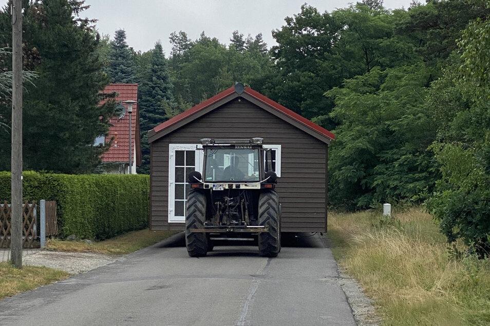 Mobilheime sind dank eigener Räder grundsätzlich transporttauglich.