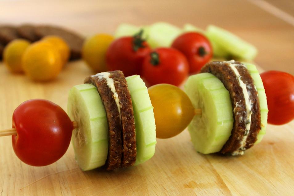 Ein appetitlich angerichtetes Pausenbrot macht Lust auf gesunde Ernährung.