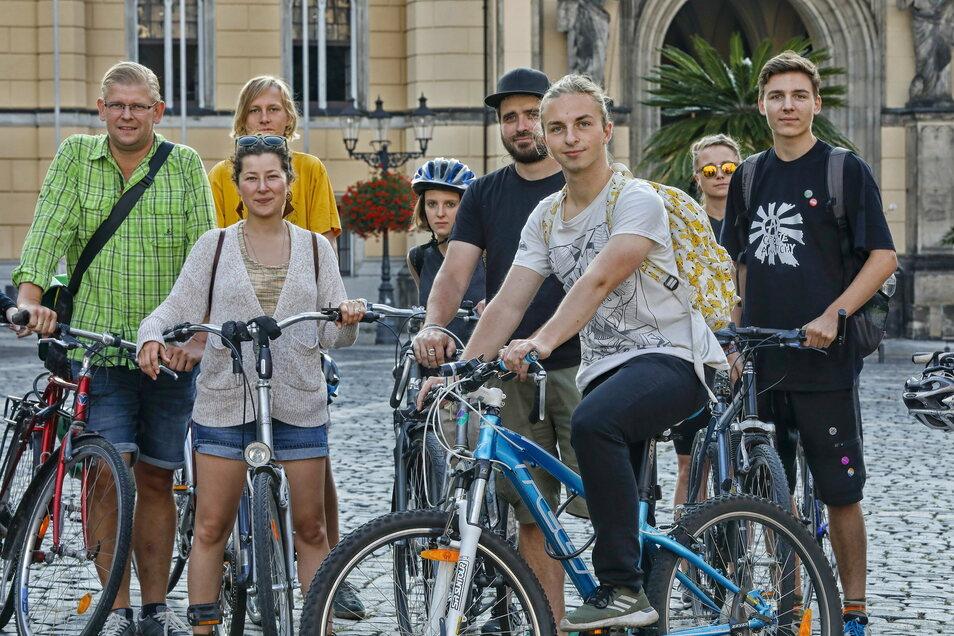 Von Zittau nach Görlitz: Protest-Radtour von Fridays for Future Zittau.