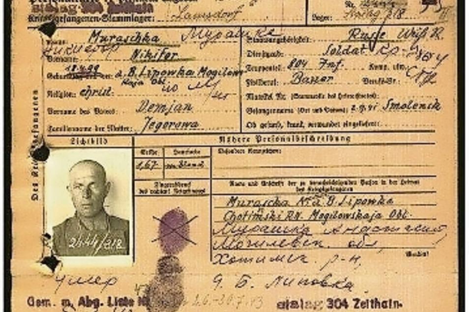 Diese Personalkarte von Nikifor Moraschko fand sein Enkel nach jahrelanger Suche im Internet.