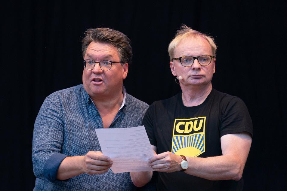 Einer mimt gern Franz-Joseph Strauß, der andere eher Erich Honecker. Trotzdem sind Helmut Schleich und Uwe Steimle ein erfolgreiches Bühnenpaar - wenn auch umstritten.