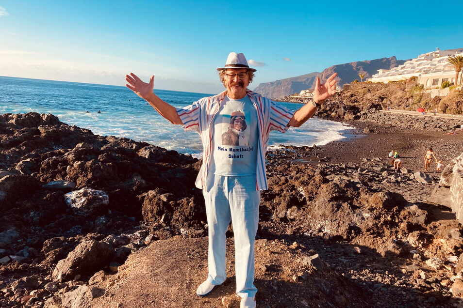 Karl-Heinz Bellmann ist ein Jahr nach seiner Krebs-OP längst wieder der Alte und genießt auf Teneriffa die Sonne.