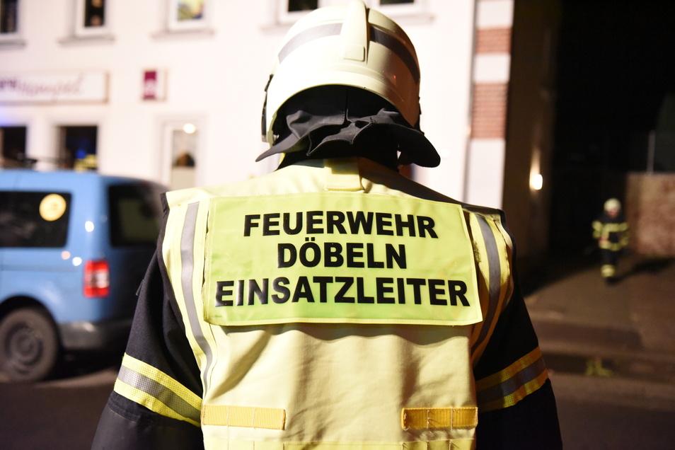 Die Feuerwehr Döbeln war mit 24 Kameraden vor Ort.