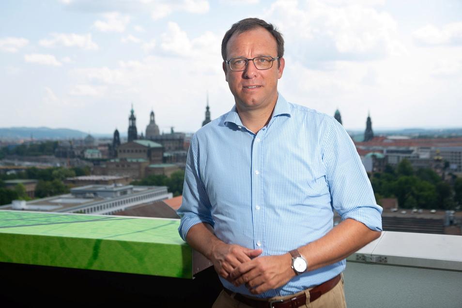 Holger Hase, hier auf einem Foto vom August 2021, ist alter und neuer Vorsitzender des FDP-Kreisvorstands in Dresden.