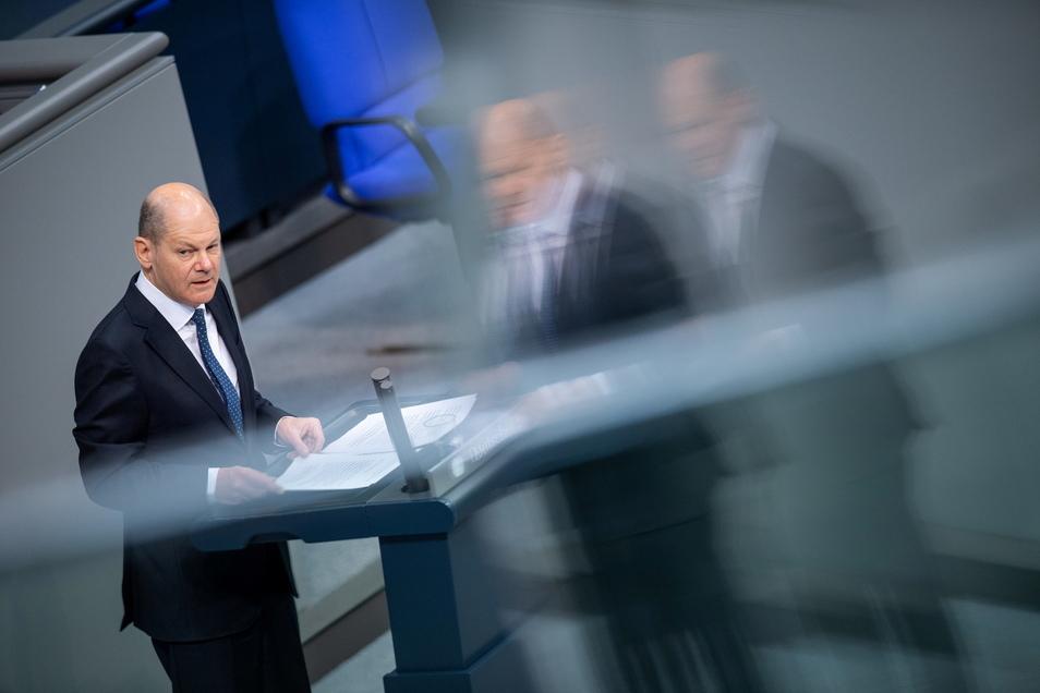 Olaf Scholz (SPD), Bundesfinanzminister, plant für das laufende Jahr mit Rekordschulden.