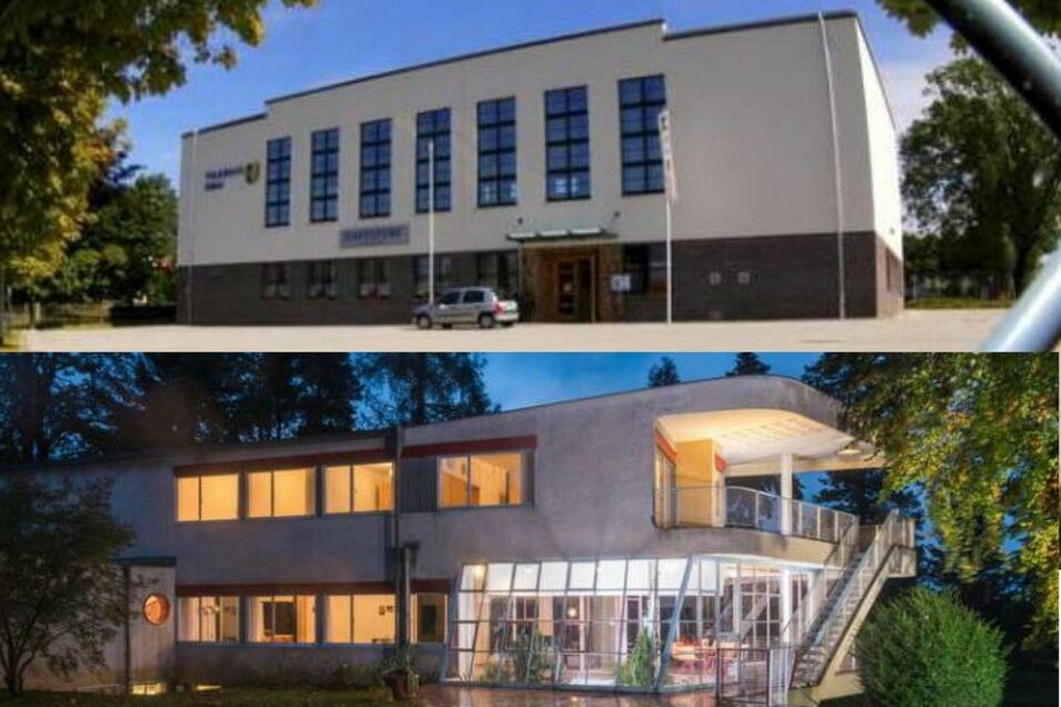 Nicht nur das berühmte Haus Schminke (unten), sondern auch das Volkshaus Eibau (oben) stehen in der Tradition des derzeit wieder gefeierten Bauhaus-Stils.