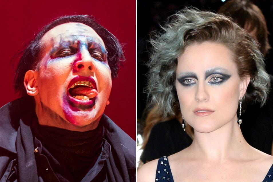 Marilyn Manson und seine Ex-Freundin, die Schauspielerin Evan Rachel Wood.