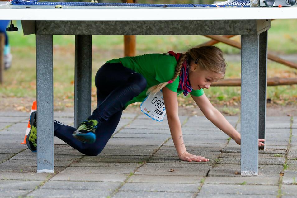 Nicht nur die Bänke im Volksbad werden genutzt, auch die Tischtennisplatte - zum Durchkriechen.
