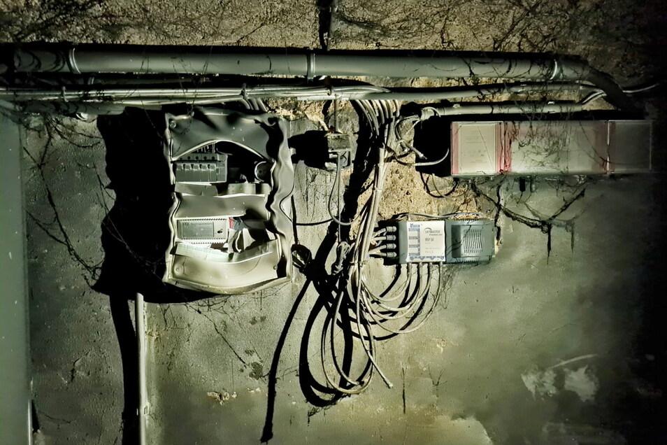 Bei einem Kellerbrand an der Hohe Straße ist der Sicherungskasten stark beschädigt worden. Die Mieter haben deshalb keinen Strom. Auch die Heizung kann derzeit nicht betrieben werden.