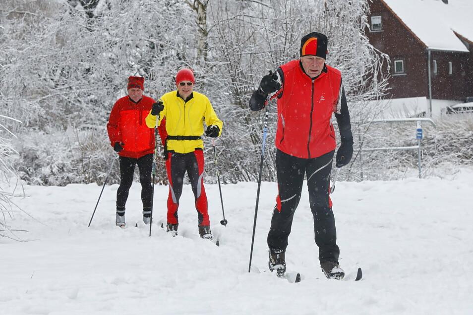 In Jonsdorf herrschen gute Bedingungen zum Langlaufen.