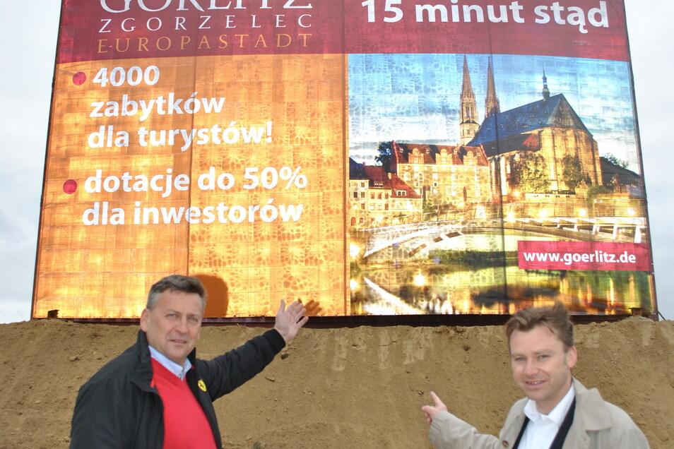 Vor einigen Jahren warb die EGZ intensiv in Breslau für Görlitz - unter anderem mit Riesenplakaten.