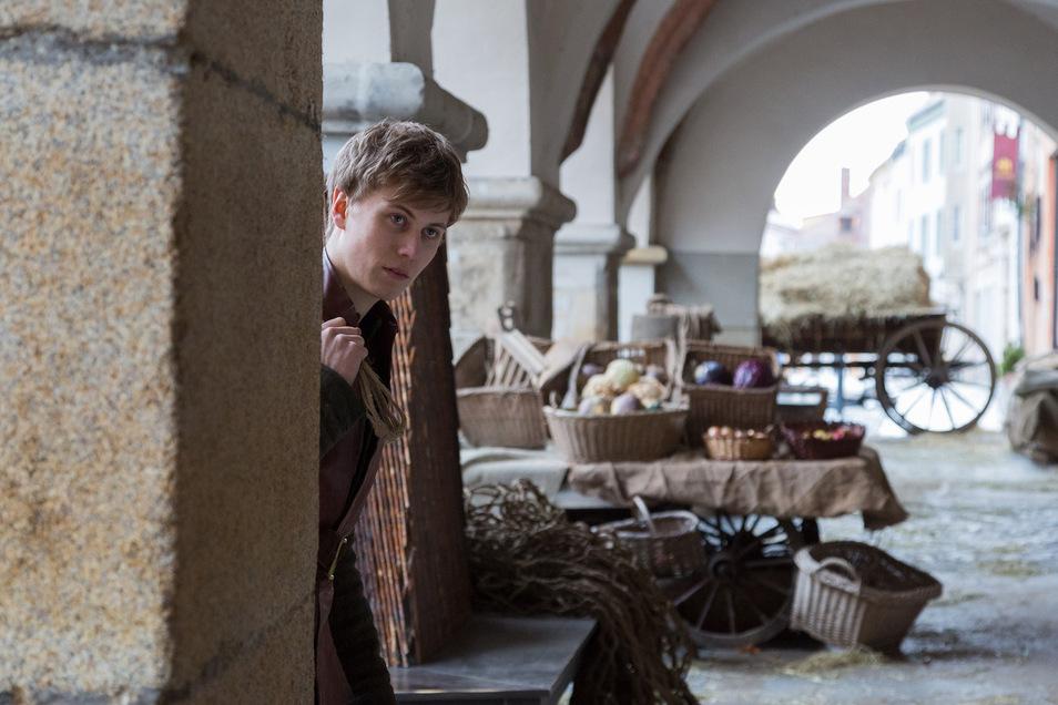 """Der """"Zauberlehrling"""" (Max Schimmelpfennig) war im Zuge einer Literaturverfilmung schon zu Gast am Untermarkt ... Foto: PR"""