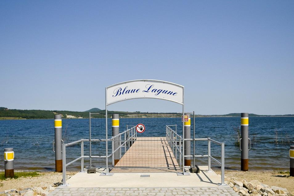Der erste neue Bootssteg soll an der Blauen Lagune errichtet werden.