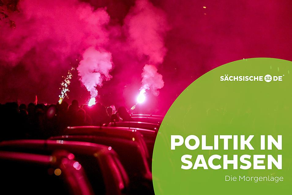 In Leipzig zogen drei Nächte hintereinander Randalierer durch die Straßen.
